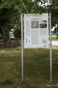 Beerfelder Galgen Infoschild am Eingang der Anlage